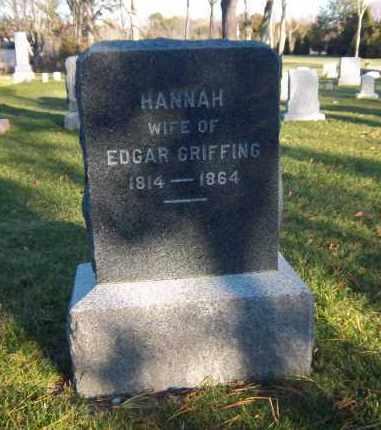 GRIFFING, HANNAH - Suffolk County, New York | HANNAH GRIFFING - New York Gravestone Photos