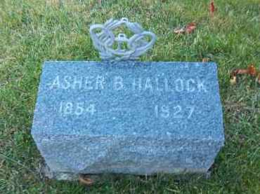 HALLOCK, ASHER B - Suffolk County, New York | ASHER B HALLOCK - New York Gravestone Photos