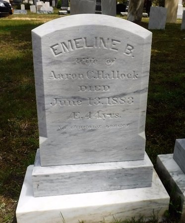 HALLOCK, EMELINE B - Suffolk County, New York | EMELINE B HALLOCK - New York Gravestone Photos