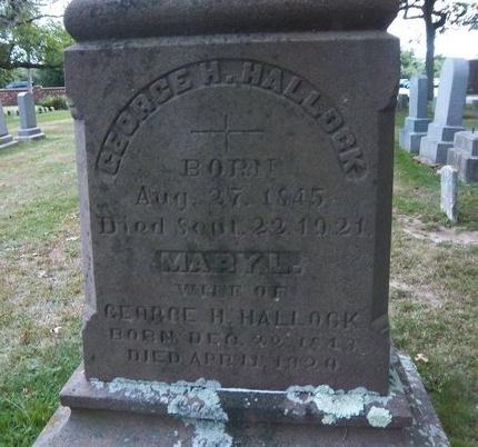 HALLOCK, MARY L - Suffolk County, New York | MARY L HALLOCK - New York Gravestone Photos