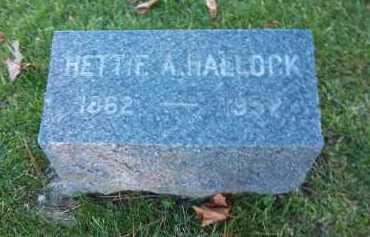 HALLOCK, HETTIE A. - Suffolk County, New York | HETTIE A. HALLOCK - New York Gravestone Photos