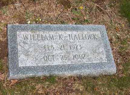 HALLOCK, WILLIAM K. - Suffolk County, New York | WILLIAM K. HALLOCK - New York Gravestone Photos