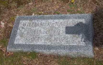 HALLOCK, WILLIAM K - Suffolk County, New York | WILLIAM K HALLOCK - New York Gravestone Photos