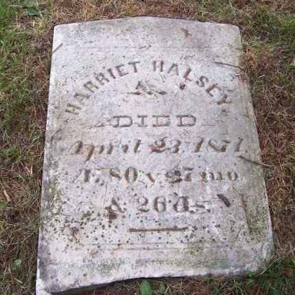 HALSEY, HARRIET - Suffolk County, New York   HARRIET HALSEY - New York Gravestone Photos
