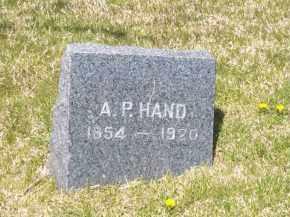 HAND, A.P. - Suffolk County, New York | A.P. HAND - New York Gravestone Photos