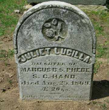 HAND, JULIET LUCILLA - Suffolk County, New York | JULIET LUCILLA HAND - New York Gravestone Photos