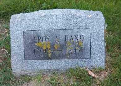 HAND, LEROY A. - Suffolk County, New York   LEROY A. HAND - New York Gravestone Photos