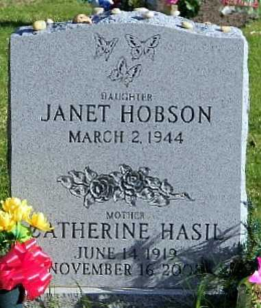 HASIL HOBSON, JANET - Suffolk County, New York | JANET HASIL HOBSON - New York Gravestone Photos