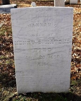 HAVENS, HANNAH S - Suffolk County, New York   HANNAH S HAVENS - New York Gravestone Photos