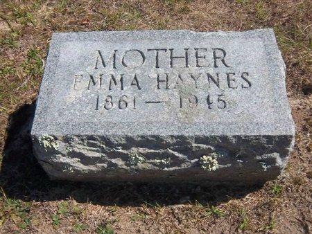 HAYNES, EMMA - Suffolk County, New York | EMMA HAYNES - New York Gravestone Photos