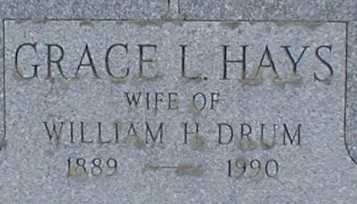HAYS DRUM, GRACE L. - Suffolk County, New York | GRACE L. HAYS DRUM - New York Gravestone Photos