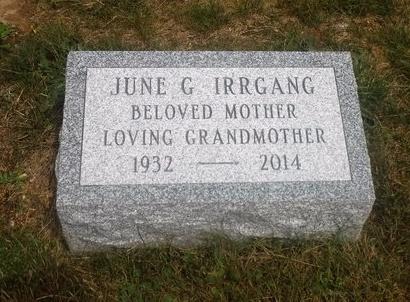 IRRGANG, JUNE G - Suffolk County, New York | JUNE G IRRGANG - New York Gravestone Photos
