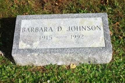 JOHNSON, BARBARA D - Suffolk County, New York | BARBARA D JOHNSON - New York Gravestone Photos