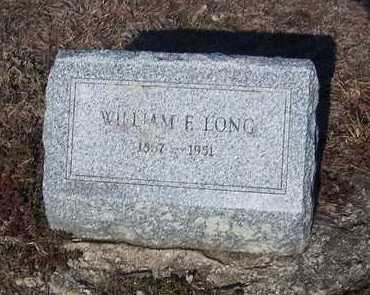LONG, WILLIAM E - Suffolk County, New York | WILLIAM E LONG - New York Gravestone Photos