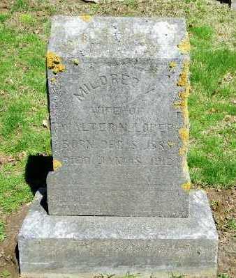 LOPER, MILDRED V - Suffolk County, New York | MILDRED V LOPER - New York Gravestone Photos