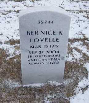 LOVELLE, BERNICE K - Suffolk County, New York | BERNICE K LOVELLE - New York Gravestone Photos
