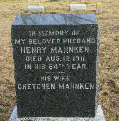MAHNKEN, HENRY - Suffolk County, New York   HENRY MAHNKEN - New York Gravestone Photos