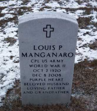 MANGANARO (WWII), LOUIS P - Suffolk County, New York | LOUIS P MANGANARO (WWII) - New York Gravestone Photos