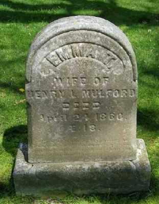 MULFORD, EMMA T - Suffolk County, New York | EMMA T MULFORD - New York Gravestone Photos