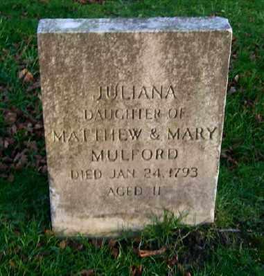MULFORD, JULIANA - Suffolk County, New York | JULIANA MULFORD - New York Gravestone Photos