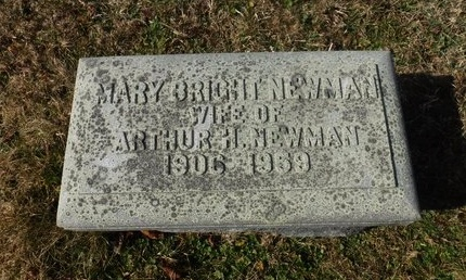 BRIGHT NEWMAN, MARY - Suffolk County, New York | MARY BRIGHT NEWMAN - New York Gravestone Photos