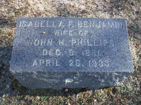 BENJAMIN, ISABELLA F - Suffolk County, New York | ISABELLA F BENJAMIN - New York Gravestone Photos