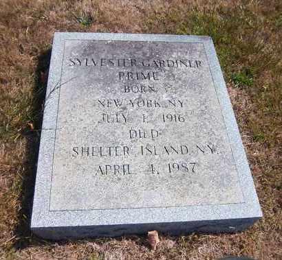 PRIME, SYLVESTER GARDINER - Suffolk County, New York | SYLVESTER GARDINER PRIME - New York Gravestone Photos