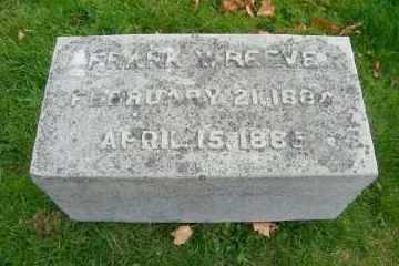 REEVE, FRANK Y - Suffolk County, New York   FRANK Y REEVE - New York Gravestone Photos