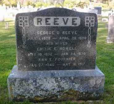 HOWELL REEVE, EMILIE E. - Suffolk County, New York | EMILIE E. HOWELL REEVE - New York Gravestone Photos