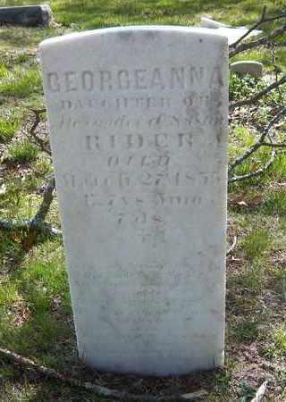 RIDER, GEORGEANNA - Suffolk County, New York   GEORGEANNA RIDER - New York Gravestone Photos