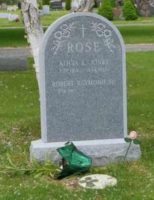 JONES ROSE, ALICIA E. - Suffolk County, New York | ALICIA E. JONES ROSE - New York Gravestone Photos