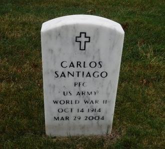 SANTIAGO (WWII), CARLOS - Suffolk County, New York   CARLOS SANTIAGO (WWII) - New York Gravestone Photos