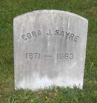 SAYRE, CORA J. - Suffolk County, New York | CORA J. SAYRE - New York Gravestone Photos