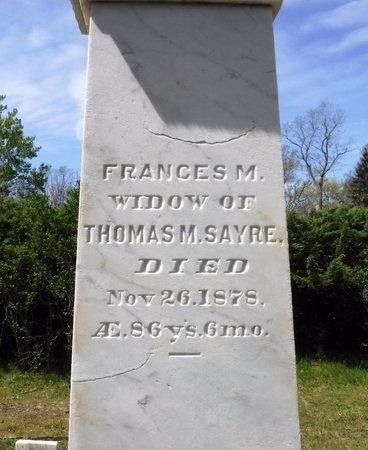 SAYRE, FRANCES M - Suffolk County, New York | FRANCES M SAYRE - New York Gravestone Photos