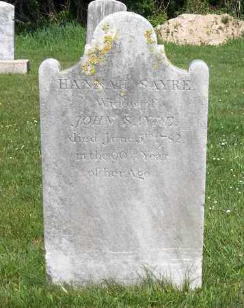 SAYRE, HANNAH - Suffolk County, New York | HANNAH SAYRE - New York Gravestone Photos