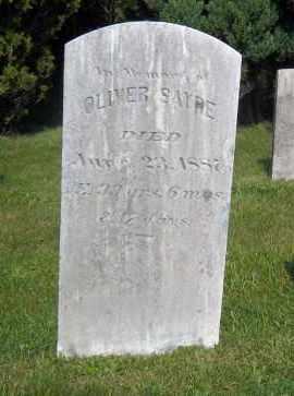 SAYRE, OLIVER - Suffolk County, New York | OLIVER SAYRE - New York Gravestone Photos