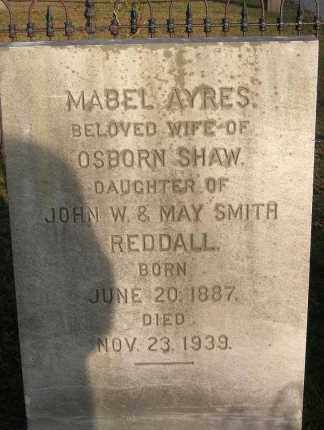 SHAW, MABEL AYRES - Suffolk County, New York | MABEL AYRES SHAW - New York Gravestone Photos