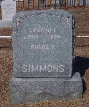 SIMMONS, EDWARD F - Suffolk County, New York | EDWARD F SIMMONS - New York Gravestone Photos