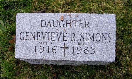 SIMONS, GENEVIEVE R - Suffolk County, New York | GENEVIEVE R SIMONS - New York Gravestone Photos