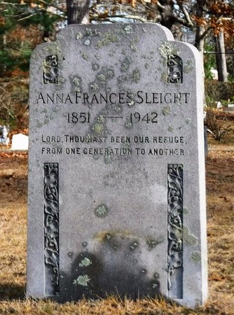 SLEIGHT, ANNA FRANCES - Suffolk County, New York   ANNA FRANCES SLEIGHT - New York Gravestone Photos
