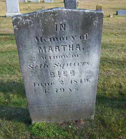 SQUIRES, MARTHA - Suffolk County, New York | MARTHA SQUIRES - New York Gravestone Photos