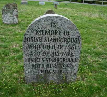 STANBOROUGH, JOSIAH - Suffolk County, New York | JOSIAH STANBOROUGH - New York Gravestone Photos