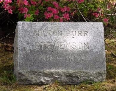 STEVENSON, MILTON BURR - Suffolk County, New York | MILTON BURR STEVENSON - New York Gravestone Photos