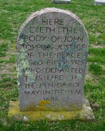 TOPPING, JOHN - Suffolk County, New York | JOHN TOPPING - New York Gravestone Photos