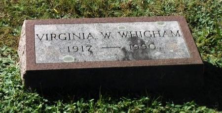 WHIGHAM, VIRGINIA W - Suffolk County, New York   VIRGINIA W WHIGHAM - New York Gravestone Photos
