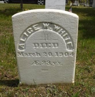 WHITE, ALICE W - Suffolk County, New York   ALICE W WHITE - New York Gravestone Photos