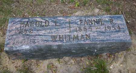 WHITMAN, HAROLD L - Suffolk County, New York   HAROLD L WHITMAN - New York Gravestone Photos