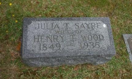 SAYRE, JULIA T - Suffolk County, New York   JULIA T SAYRE - New York Gravestone Photos
