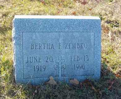 ZEMBKO, BERTHA F - Suffolk County, New York | BERTHA F ZEMBKO - New York Gravestone Photos