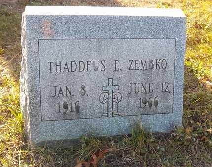 ZEMBKO, THADDEUS E - Suffolk County, New York | THADDEUS E ZEMBKO - New York Gravestone Photos